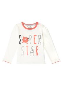 Cream Super Star Tee (0-24 months)