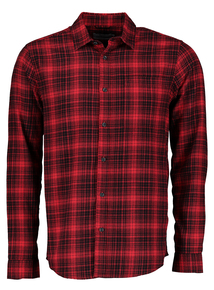 Red Slim Fit Check Shirt
