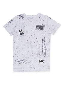White 'Attitude' Paint Splat T-Shirt (3-14 years)