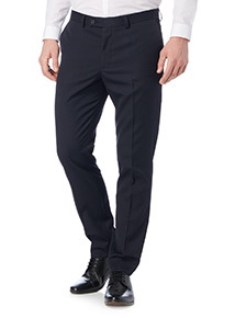 Navy Slim Perfect Crease Trousers
