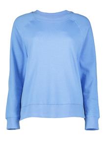 Online Exclusive Blue Boxy Sweatshirt
