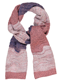 Pink & Blue Striped Scarf