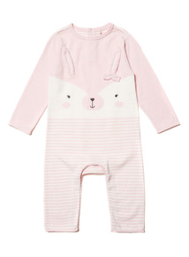 Cream Knitted Bunny Romper (0-12 months)