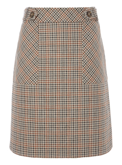 Multi-Coloured Checked Skirt