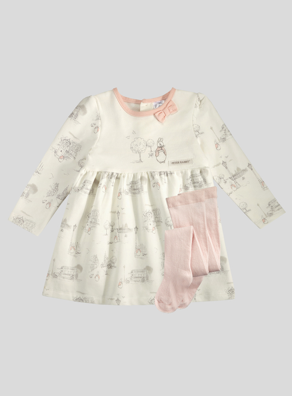 63d9a74ea Baby Peter Rabbit Pink Print Dress and Tights Set (Newborn - 12 months)    Tu clothing