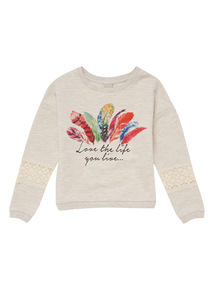 Cream Feather Jumper (3 - 12 years)
