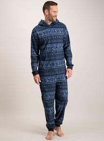 Online Exclusive Navy Stag Fair Isle All In One