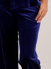 Navy Velvet Pyjama Bottoms