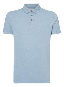 Blue Garment Dye Polo