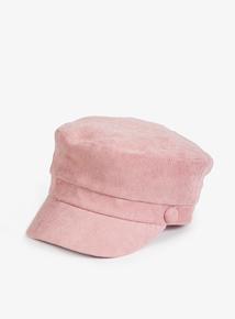 Pink Glitter Corduroy Baker Boy Hat (3-13 years)