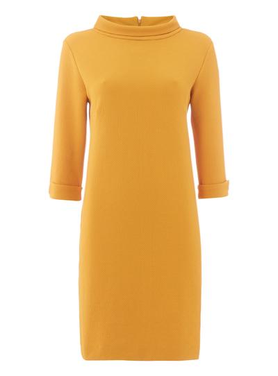 Womens Yellow High Neck Dress | Tu clothing