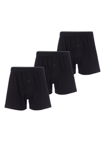 Black Jersey Boxer 3 Pack