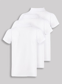 3 Pack White Polo Shirts (3-12 years)