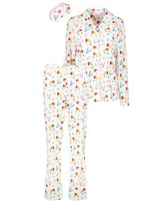 Christmas Online Exclusive Robin Print Pyjamas