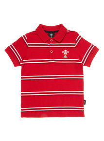 Multicoloured Wales Rugby Polo Shirt (1 - 14 years)