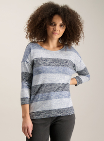 Blue Block Stripe Nautical Top