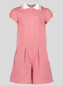 Red Gingham Playsuit (3-12 years)
