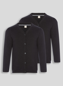 Black Scalloped Cardigan 2 Pack (3-16 years)