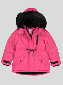 Pink & Black Technical Coat