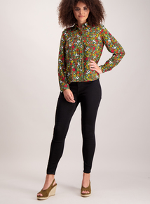 Floral Meadow Print Western Shirt