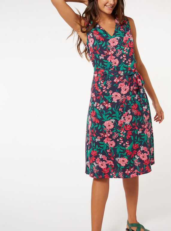 Online Exclusive Multicoloured Floral Print Midi Dress