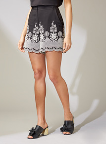 Premium Monochrome Lace Shorts