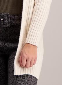 Cream Plait Cable Cardigan