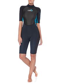 Ladies Turquoise Short Wetsuit