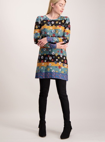 Multicoloured Floral Stripe Tunic
