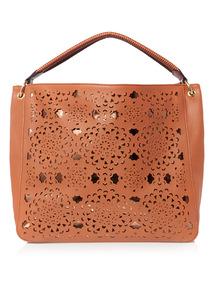 Laser Cut Shoulder Bag