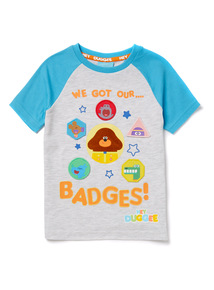 Grey 'Hey Duggee' Badged T-Shirt (9 months -6 years)