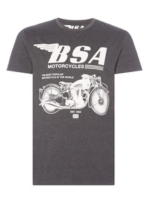 Black BSA License Tee