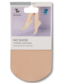 9788c9b32c6 Nude No-Show Footsies 2 Pack