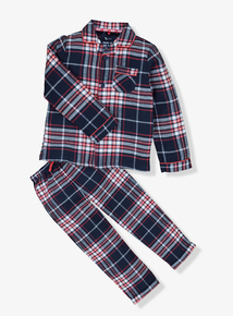 Navy Check Woven Pyjamas (1.5 -12 years)