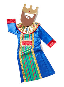 Multicoloured Christmas King Costume (3-10 years)