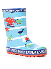 Stripe Dinosaur Wellies (6 Infant-12 Infant)