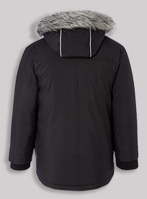 Black Puffa Jacket (3-14 years)