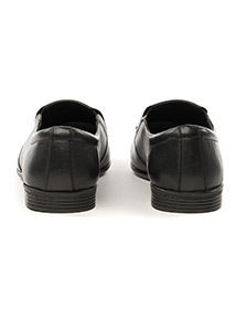 Black 'Sole Comfort' Leather Slimline Slip-On Shoes