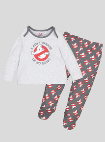 Halloween Ghostbusters Grey Pyjamas (0-24 months)