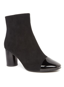 Patent Toe Cap Ankle Boot