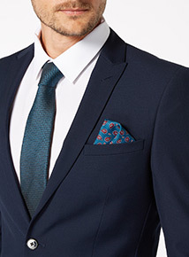 Green Tie With Paisley Pocket Square