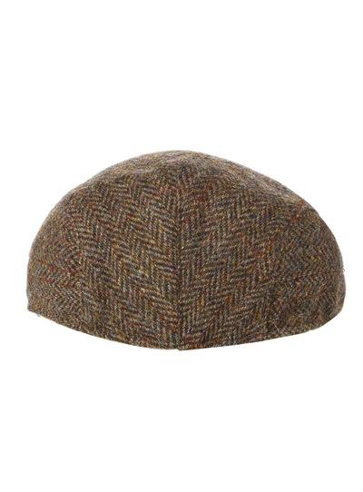 Menswear Green Harris Tweed Herringbone Flat Cap  8e41d47bf93d