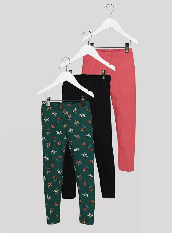e9d277c0243993 Kids Multicoloured Horse Rider Leggings 3 Pack (3-14 years) | Tu clothing
