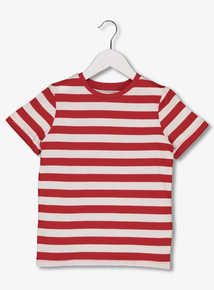 Red Stripe Crew Neck T-Shirt (3-14 years) 861618691