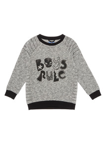 Grey Boys Rule Sweat Top (9 months - 6 years)