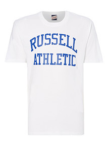 Online Exclusive Russell Athletic White Logo Tee