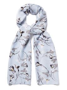 Floral Print Crinkle Scarf