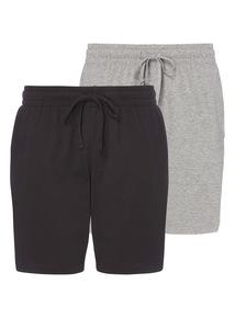 Black & Grey Pyjama Shorts 2 Pack