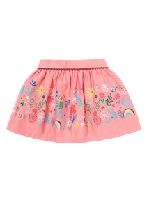 Pink Floral Print Skirt (9 months-5 years)