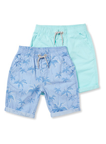 2 Pack Multicoloured Shorts (3-14 years)